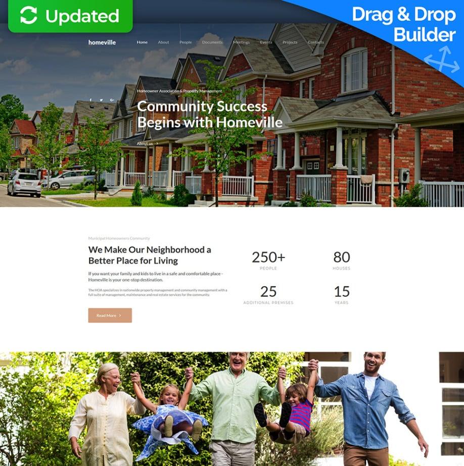 Homeowners Association Website Template Hoa Site