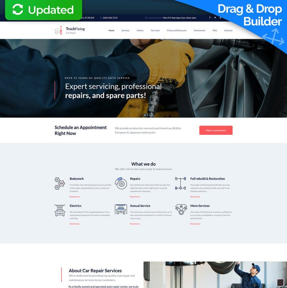 TruckFixing Responsive Homepage-Vorlage | MotoCMS