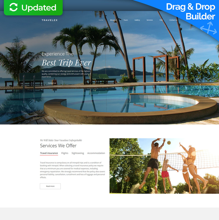 Travel Agency Website >> Travel Agency Website Template For Travel Companies