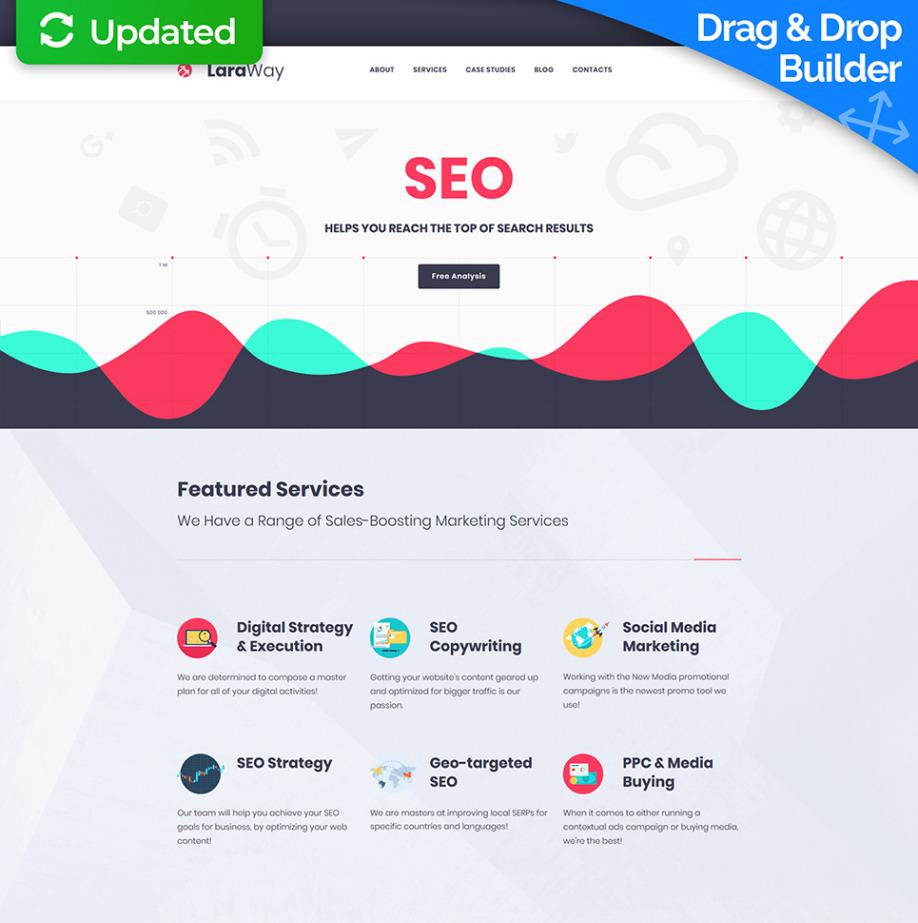 LaraWay - SEO & Digital Marketing Agency Website Template | MotoCMS
