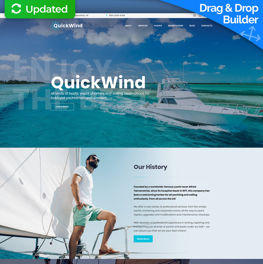 e6267ae97 Yacht Website Design for Boating & Voyage Charters | MotoCMS