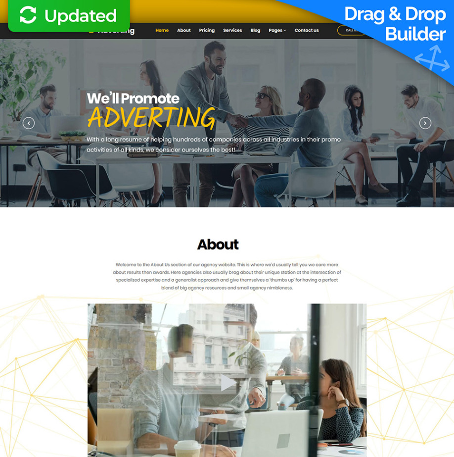 Advertising Agency Website Template for Marketing Sites