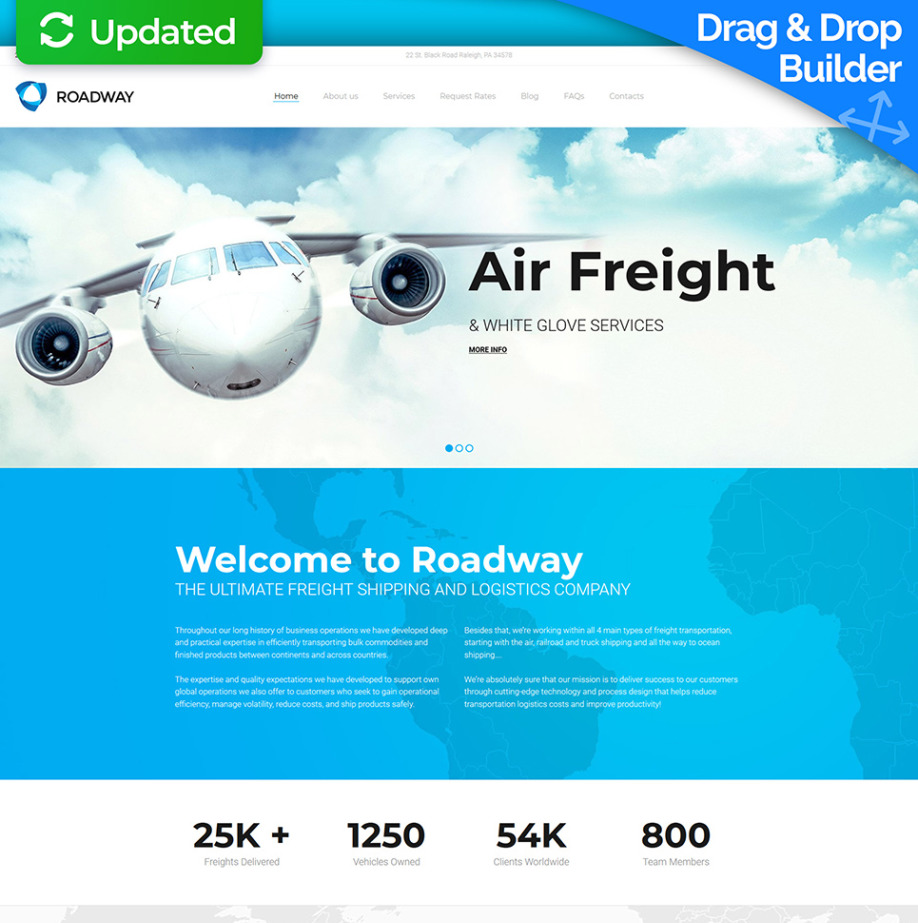 Transport Website Template for Logistics Company