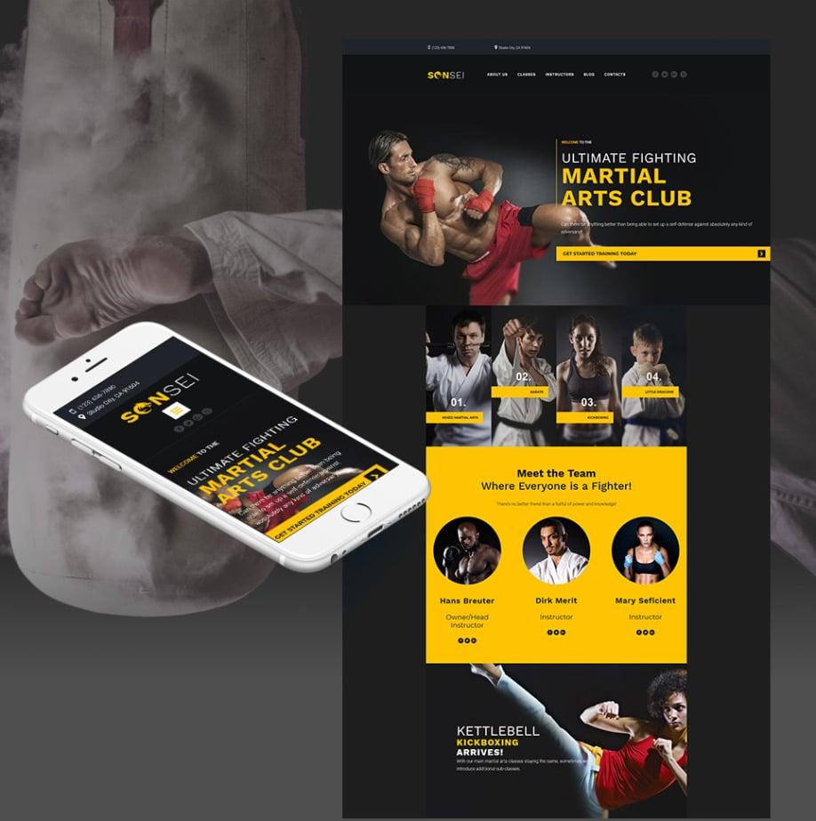 Martial Arts Website Template Image