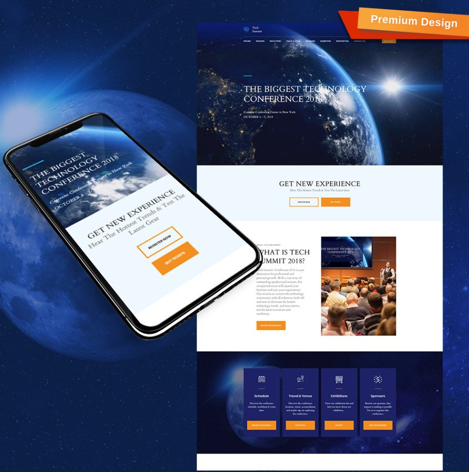 Conference Website Template Image