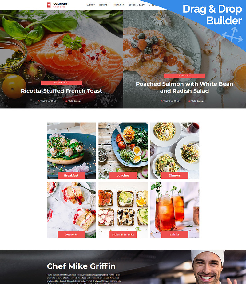 Recipe Website Template Image
