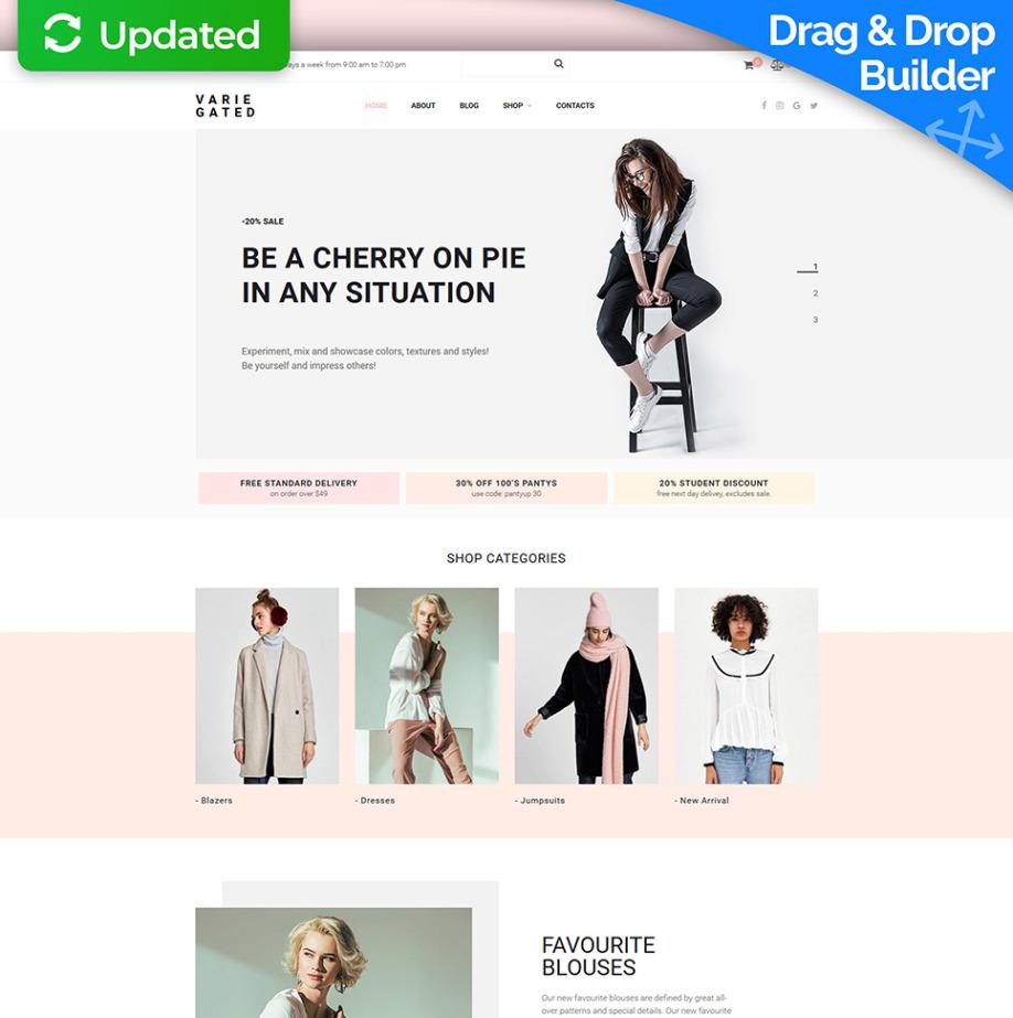 49d7874a749 Online Clothing Store Website Design for Fashion Shops