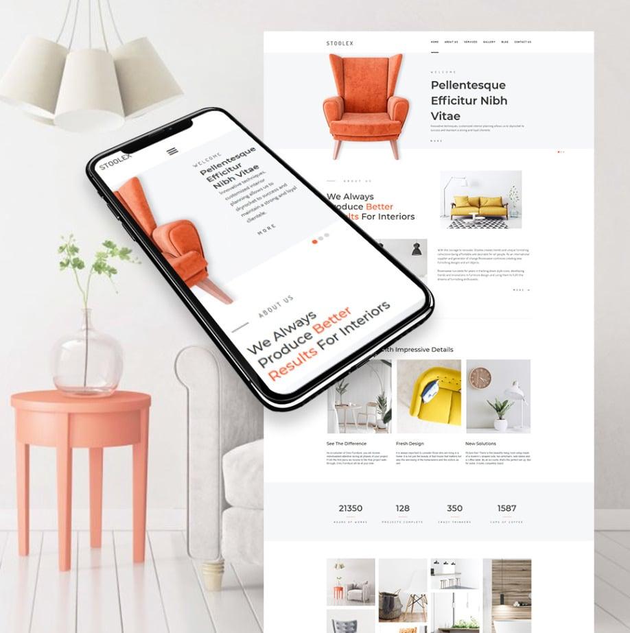 Interior Decoration Website Template For Home Decor Motocms