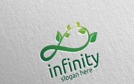 Green Infinity loop Design 33 Logo Template