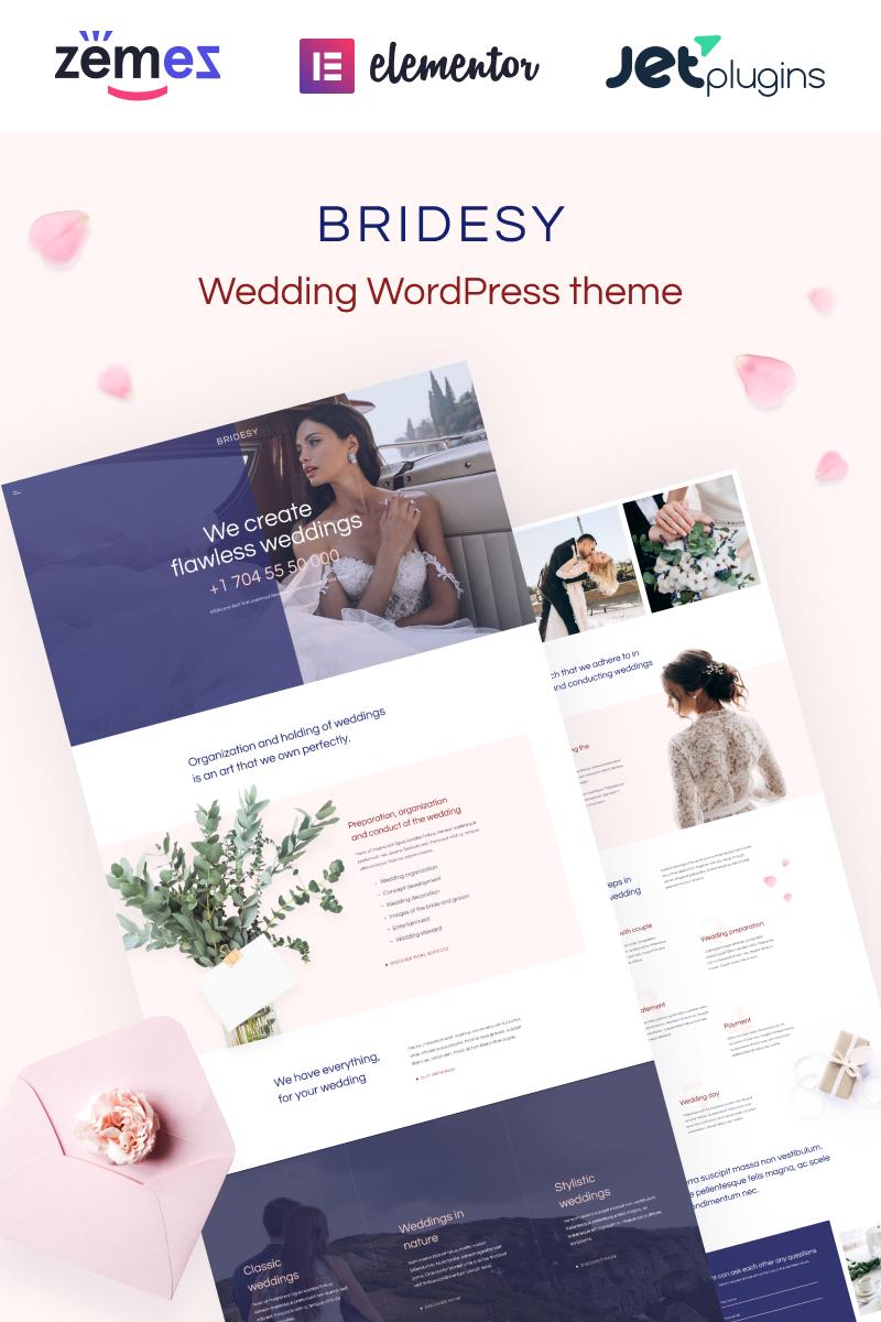 """Bridesy - Tender And Neat Wedding"" thème WordPress adaptatif #91958"