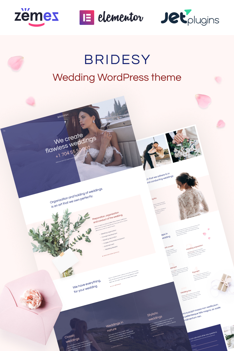 Bridesy - Tender And Neat Wedding WordPress Theme - screenshot