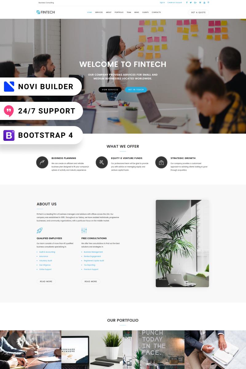 FinTech - Novi Builder Financial Planner Landing Page Template - screenshot