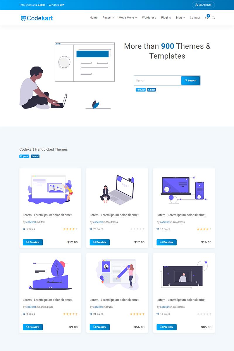 """Responzivní Šablona webových stránek """"Codekart digital marketplace Website Template"""" #91962"""