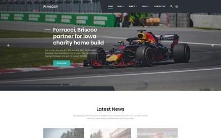 Racer - Car Sports News Website Template