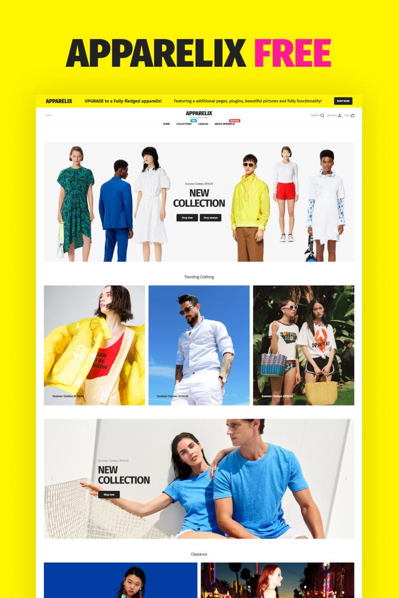 Apparelix Free Shopify-tema #92048