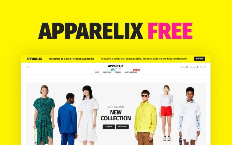 Apparelix Free Shopify Theme