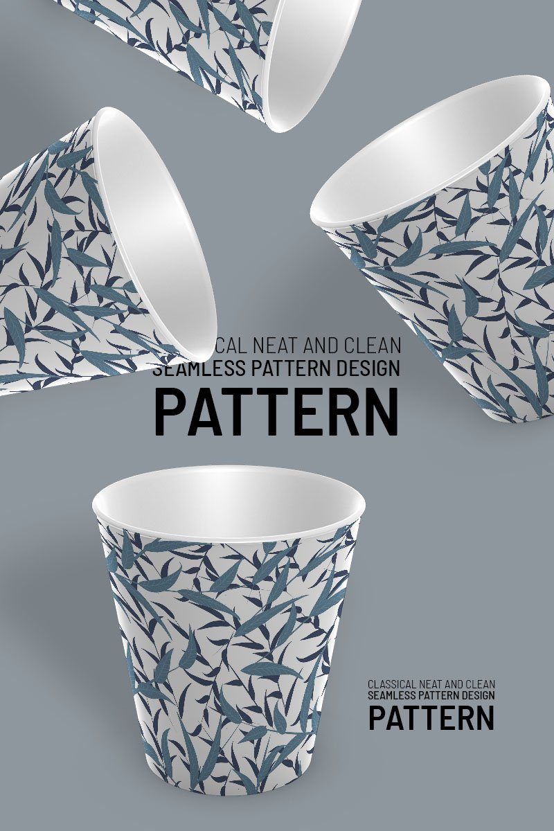"""Branches and leaves beautiful repeat design"" Pattern №92094"