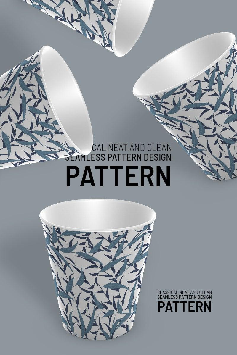 Branches and leaves beautiful repeat design Pattern №92094 - captura de tela