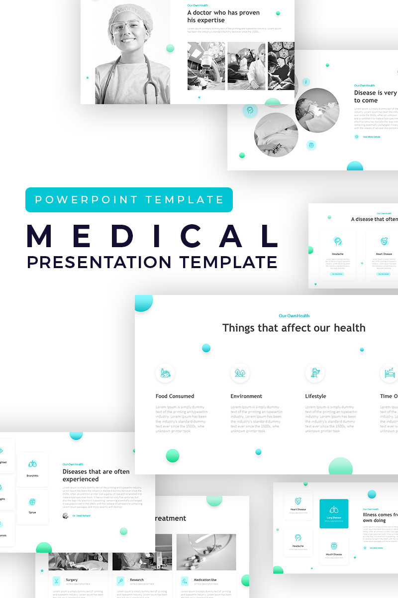 Medical Creative Presentation PowerPoint Template