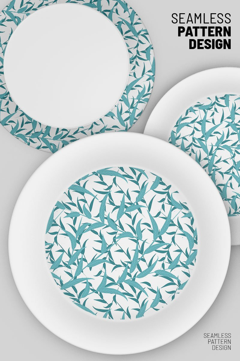"Modello Pattern #92096 ""Abstract leaves and branches"""
