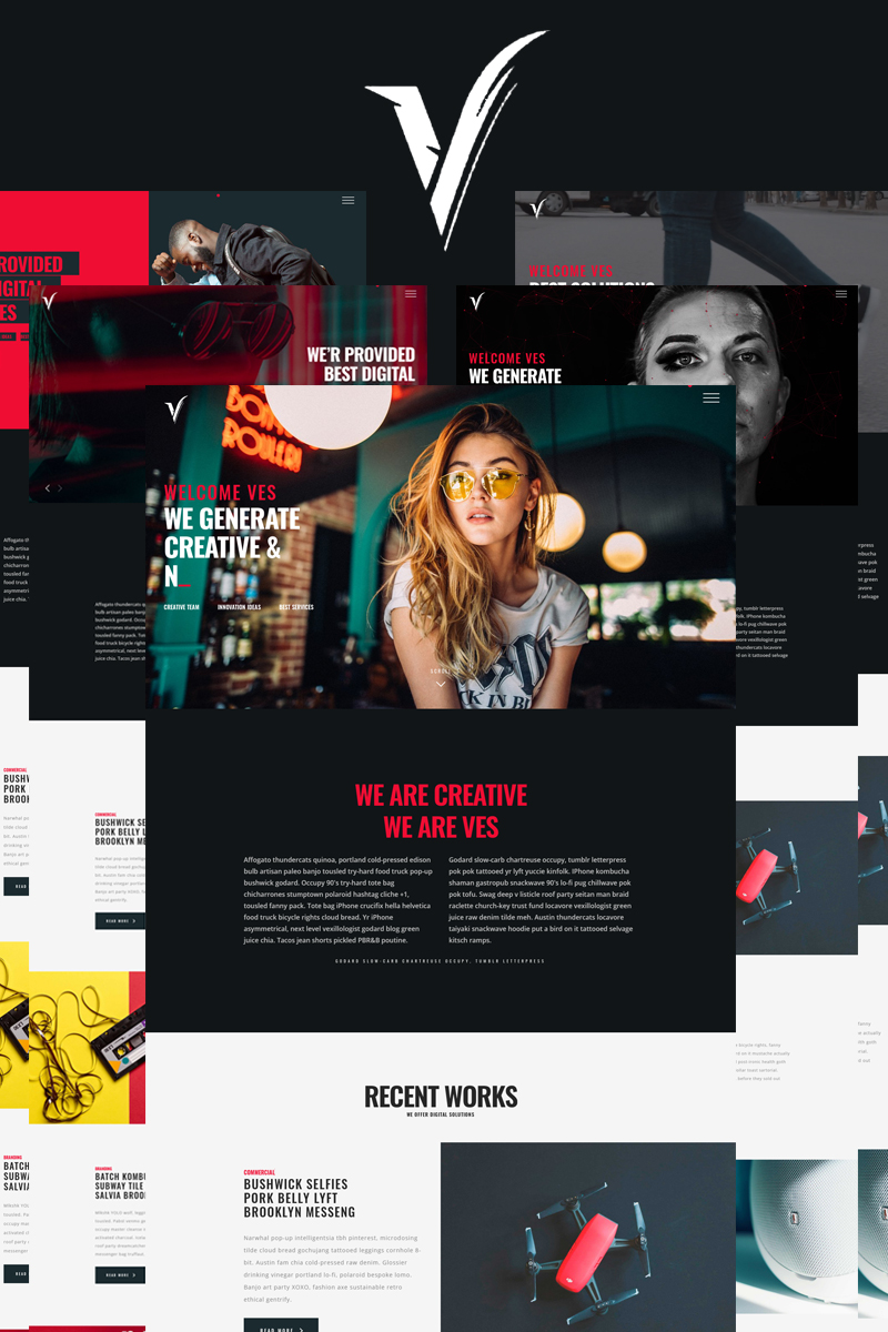 VES - Portfolio and Agency Bootstrap Website Template - screenshot