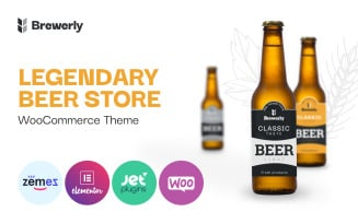 Brewerly - Engaging And Multifunctional Beer Shop Template WooCommerce Theme