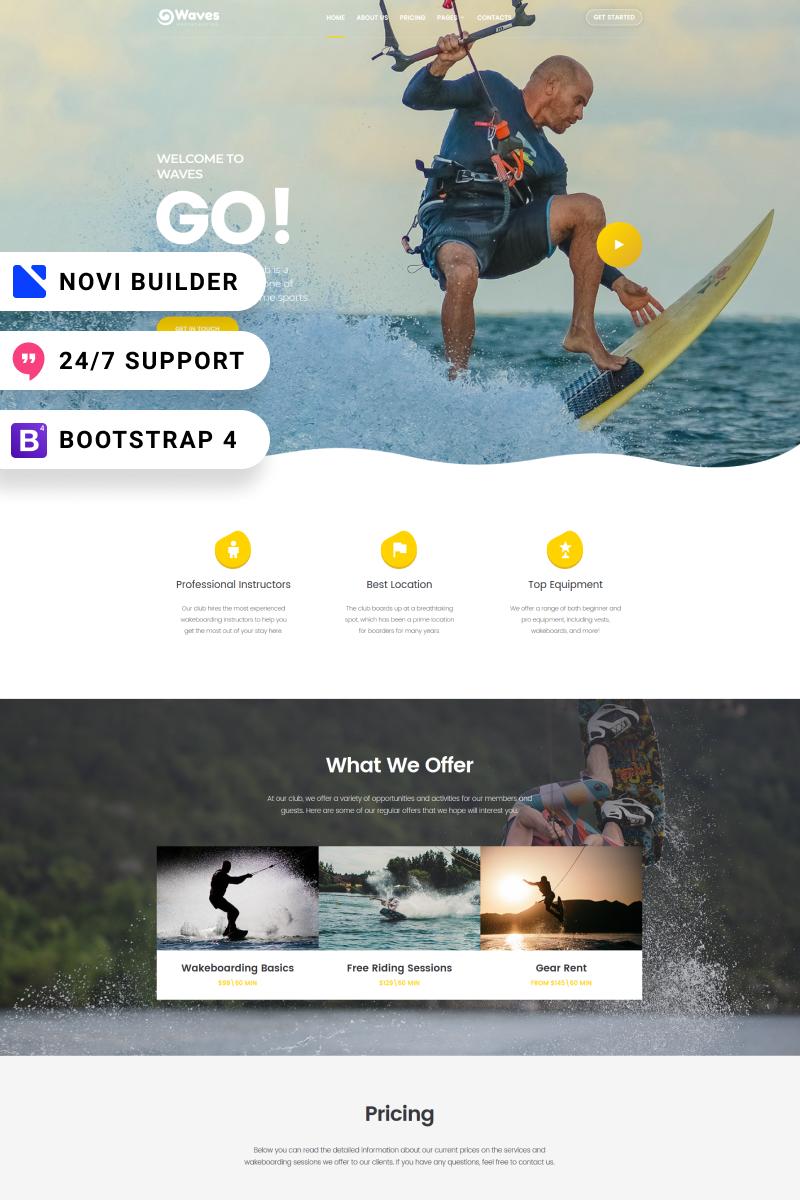 Waves - Novi Builder Wakeboarding Club Website Template - screenshot