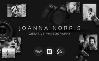 Joanna Norris - Photographer Portfolio Website Template