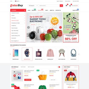 Купить  пофессиональные Shopify шаблоны. Купить шаблон #92285 и создать сайт.