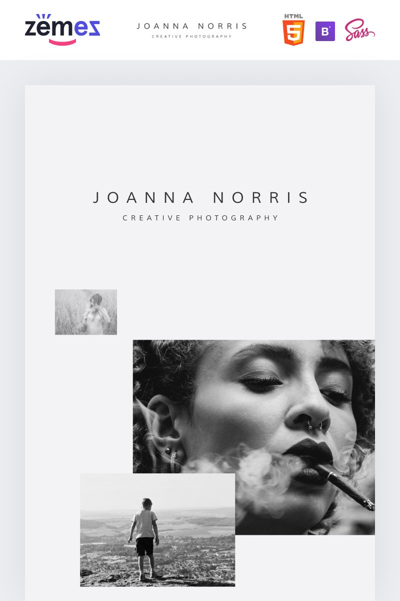 Joanna Norris - Photographer Portfolio Website Template - screenshot