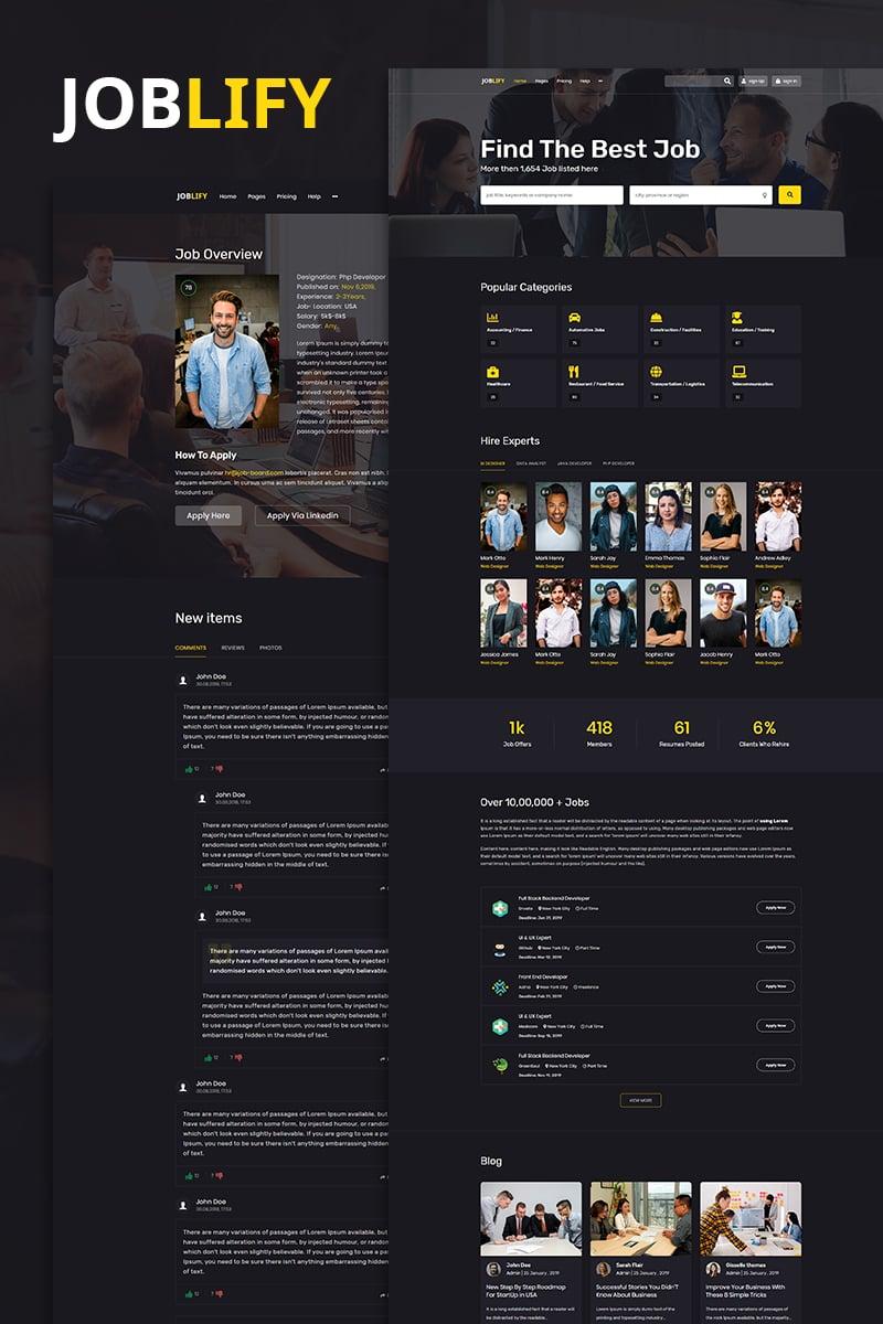Joblify | Job board Marketplace Website Template