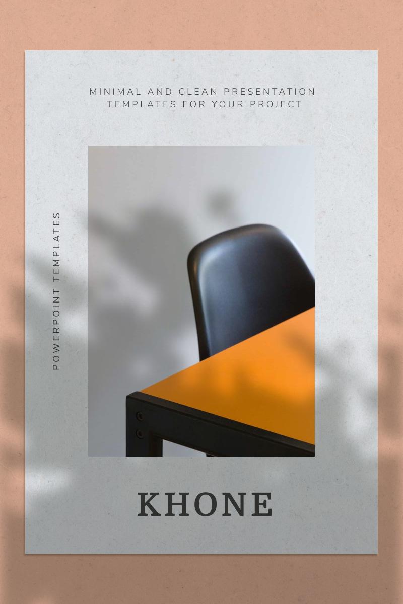"""KHONE"" PowerPoint Template №92217"