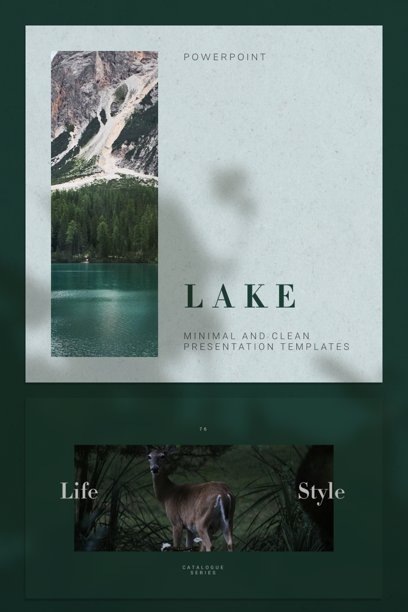 """""""LAKE"""" modèle PowerPoint  #92216"""