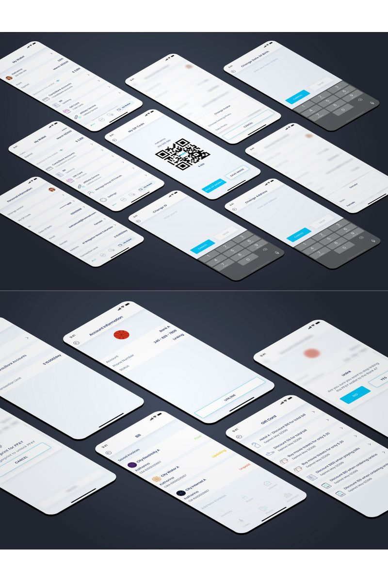 My Wallet UI Elements - screenshot