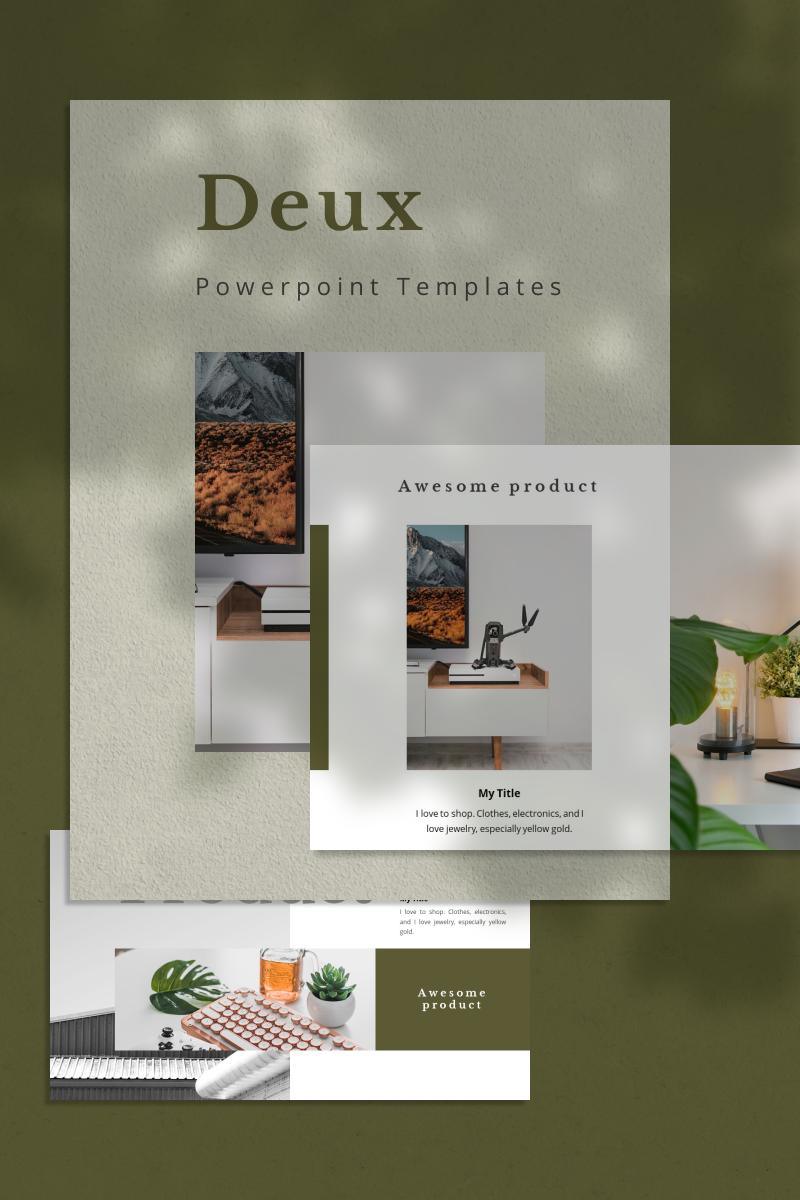 "Plantilla PowerPoint ""DEUX"" #92226"
