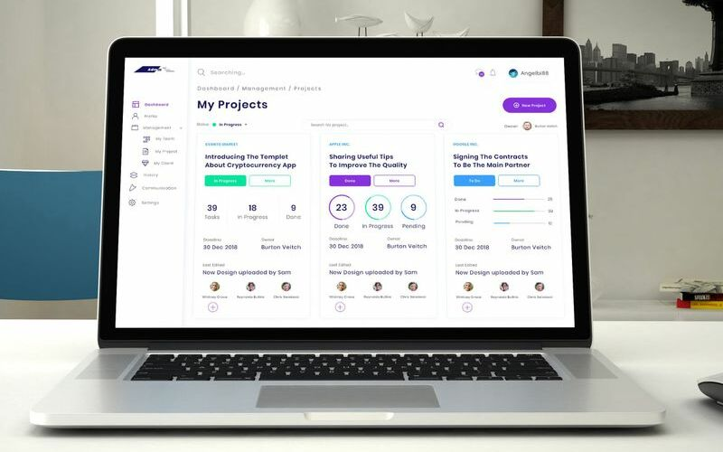 Project Management Admin Dashboard Ui Kit UI Elements #92264