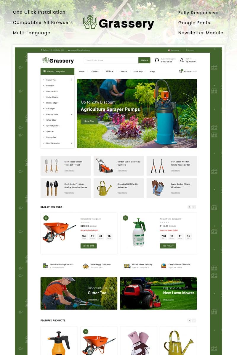 Responsywny szablon OpenCart Grassery - Garden Tools Store #92289