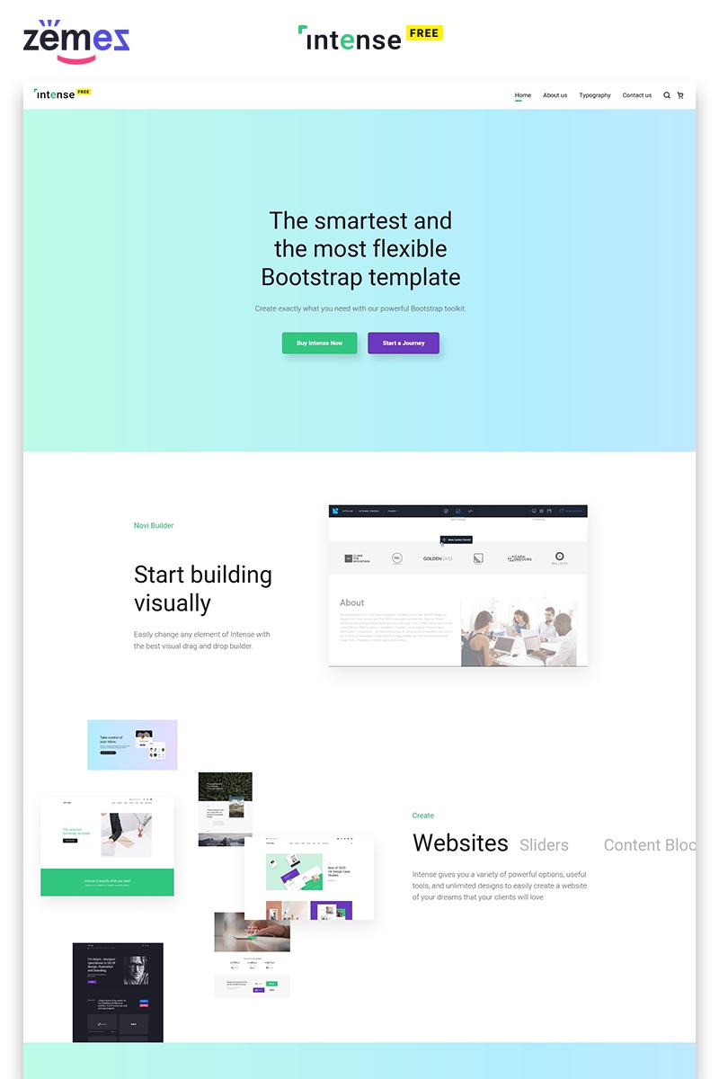 """Responzivní Šablona webových stránek """"Intense Free - Business HTML"""" #92283"""