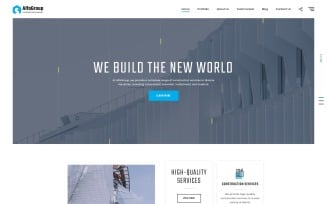 AlfaGroup - Construction Business Landing Page Template