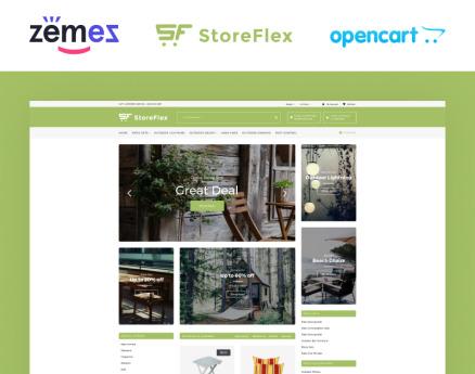 StoreFlex Garden Store Template OpenCart Template