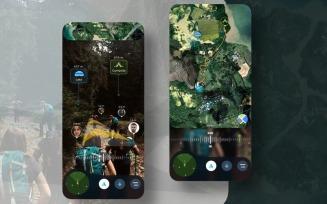 AR Travel Hiking UI Kit