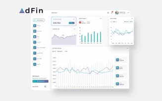 AdFin Finance Dashboard Ui Light