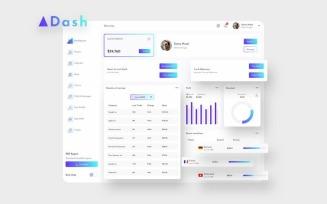 ADash Finance Dashboard Ui Light