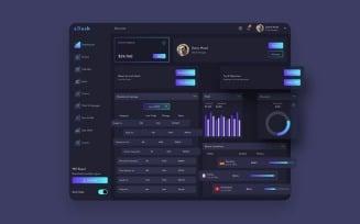 ADash Finance Dashboard Ui Dark