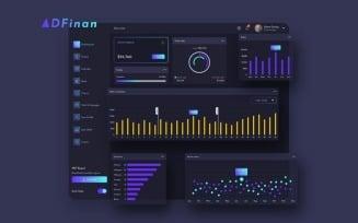 ADFinan Finance Dashboard Ui Dark Sketch Template