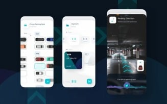 AR-AI Parking UI Kit Sketch Template