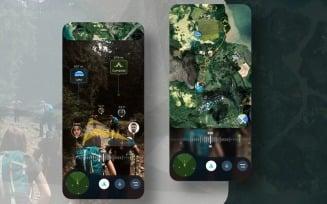 AR Travel Hiking UI Kit Sketch Template