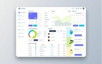 ARO Bank Dashboard UI Sketch Template