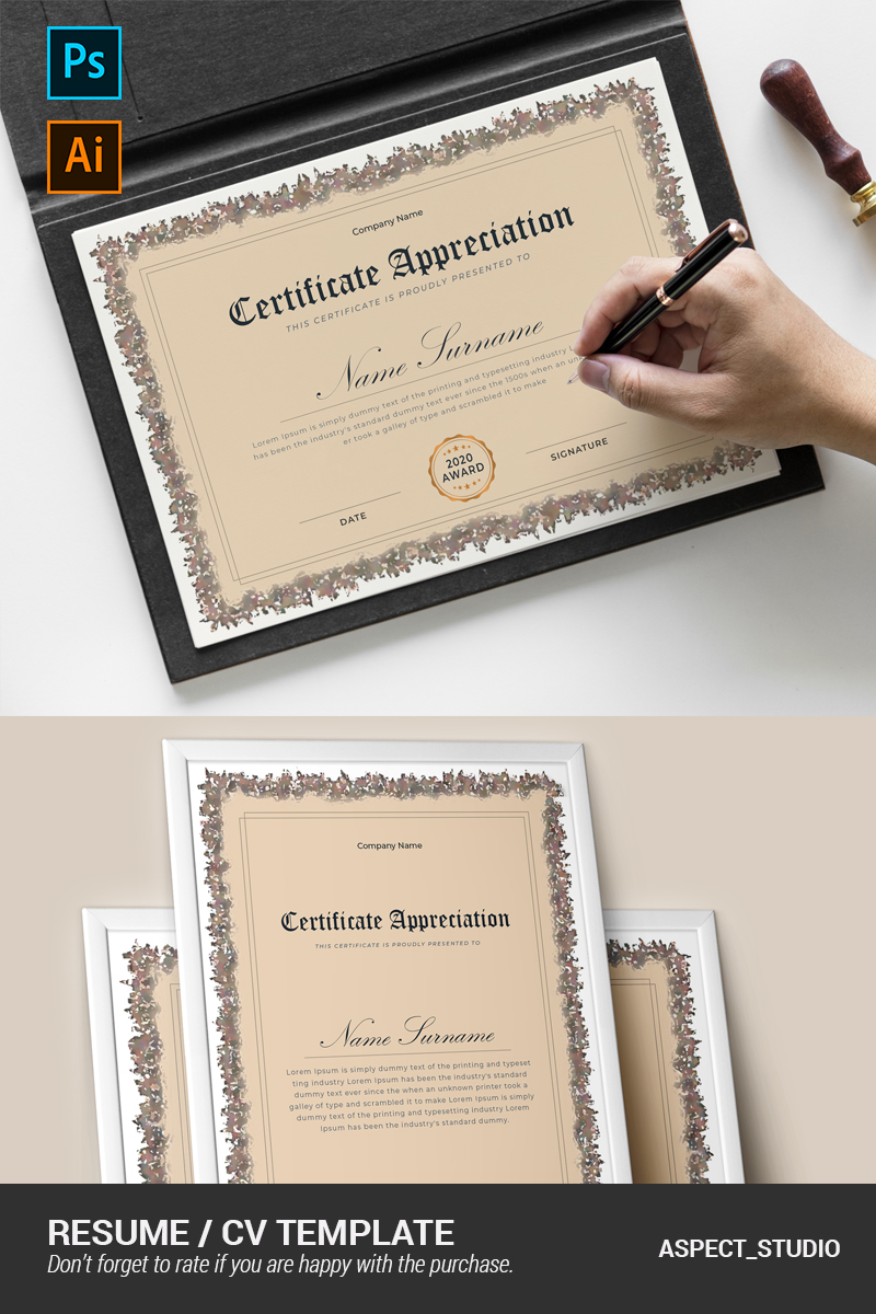 """""""Corporate"""" modèle de certificat  #92349"""