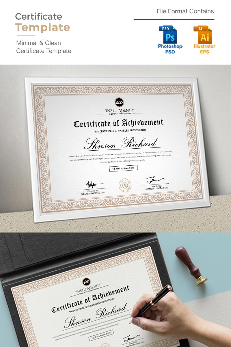 Golden Certificate Template 92350